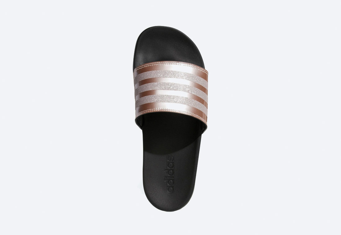 adidas Originals Adilette Cloudfoam Plus Explorer — dámské pantofle — zlaté — nazouváky