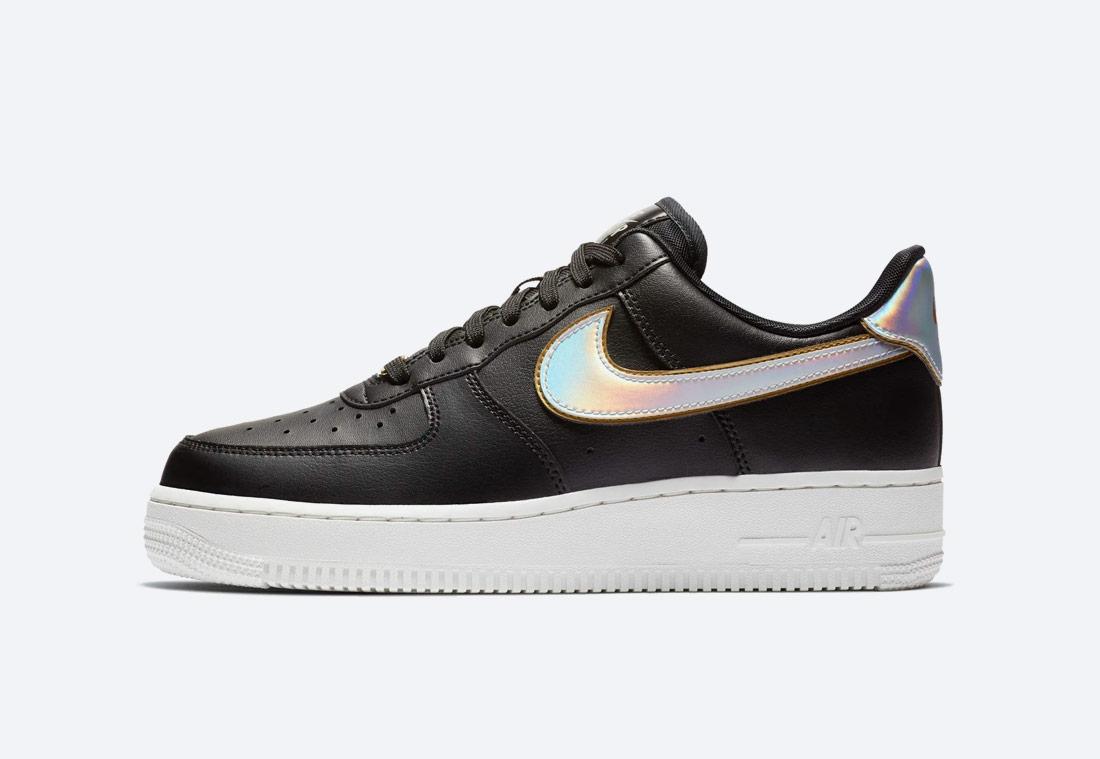Nike Air Force 1 '07 Metallic — dámské boty — tenisky — sneakers — černé — duhové
