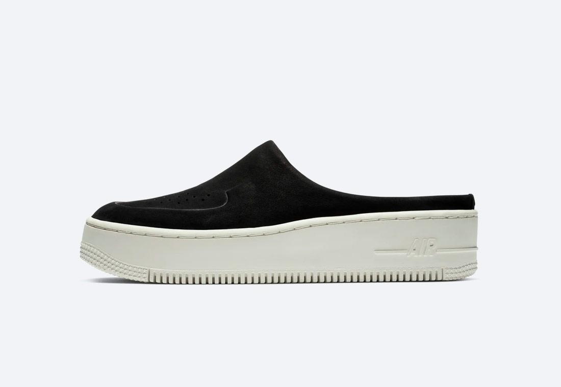 Nike Air Force 1 Lover XX Premium — pantofle — dámské — černé — nazouváky