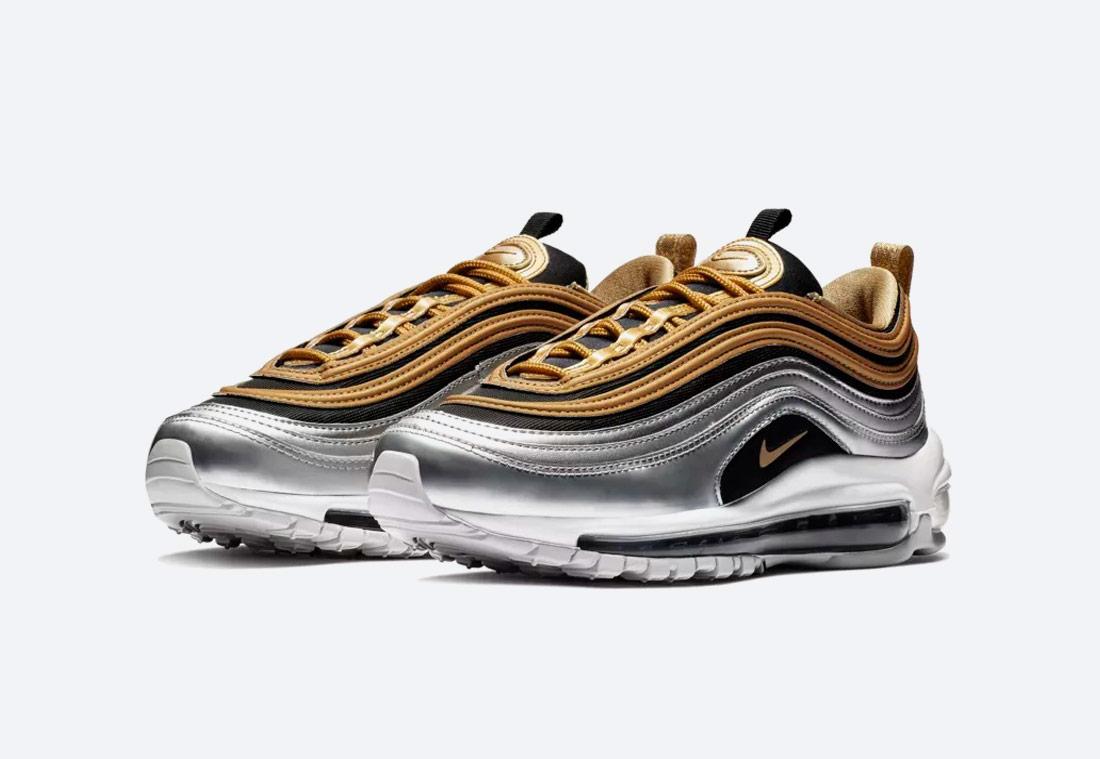 Nike Air Max 97 SE Metallic — dámské boty — tenisky — sneakers — zlaté, stříbrné