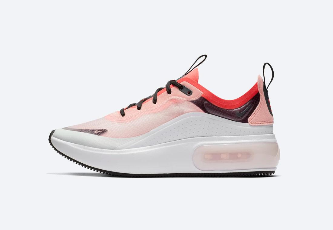 Nike Air Max Dia — dámské boty — sneakers — tenisky — oranžové, růžové