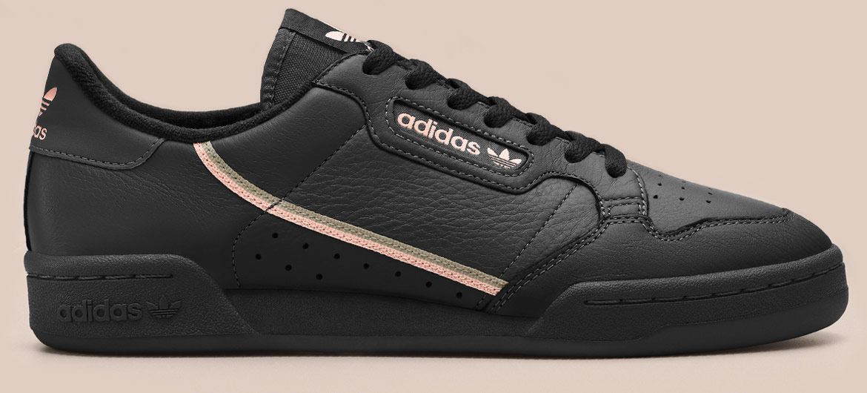 adidas Originals Continental 80 — tenisky — boty — pánské, dámské — sneakers — černé
