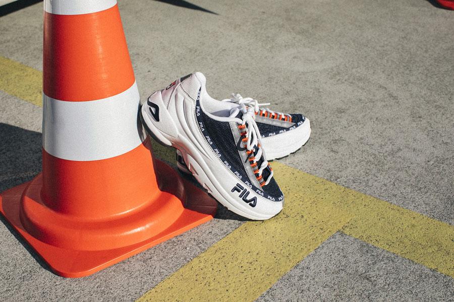 Fila DSTR97 — boty — sneakers — modro-bílé boty