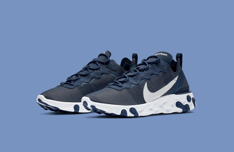 Nike React Element 55 — boty — pánské — sneakers — modré