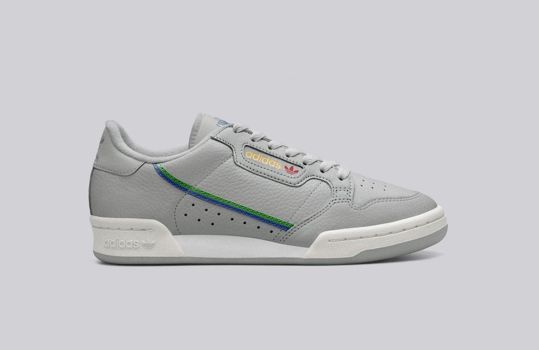 adidas Originals Continental 80 — boty — tenisky — pánské, dámské — sneakers — šedé