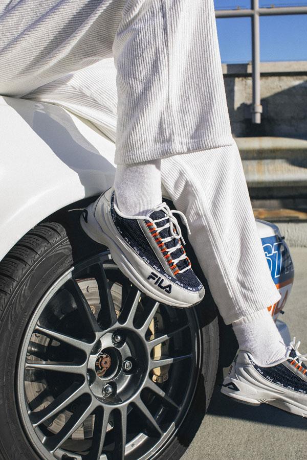 Fila DSTR97 — modro-bílé boty — pánské — dámské
