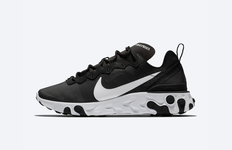 Nike React Element 55 — boty — dámské — sneakers — černé