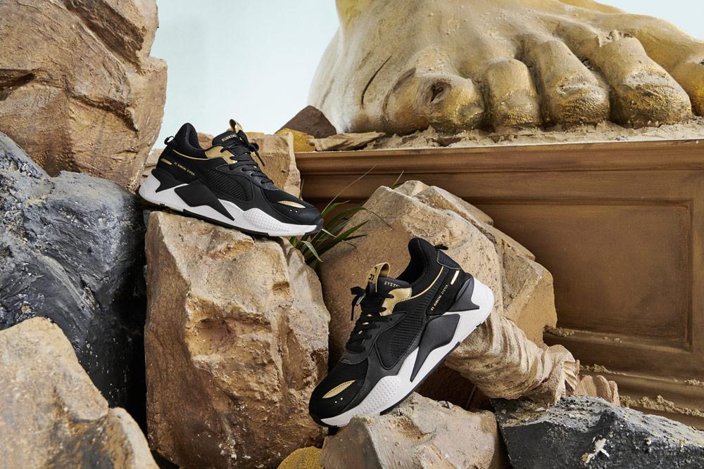 Puma RS-X Trophy — Black Gold — černé boty se zlatými detaily — — tenisky — sneakers — look