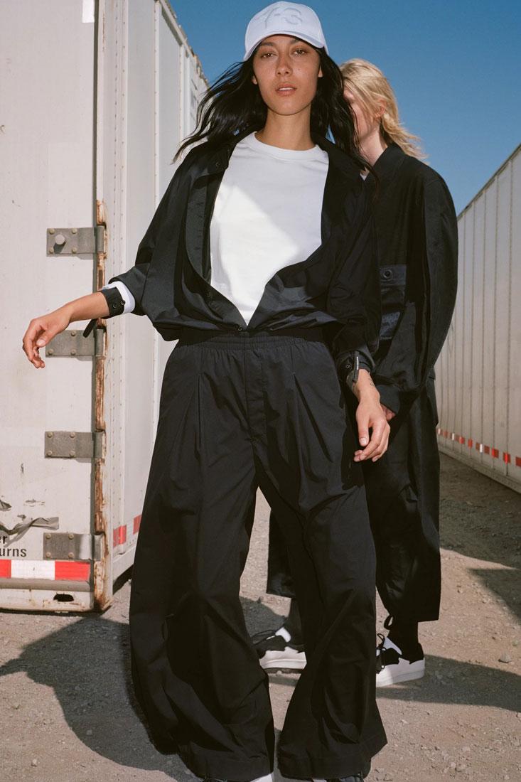 Y-3 — kalhoty, bunda — Yohji Yamamoto x adidas — lookbook — spring/summer — jaro/léto 2019