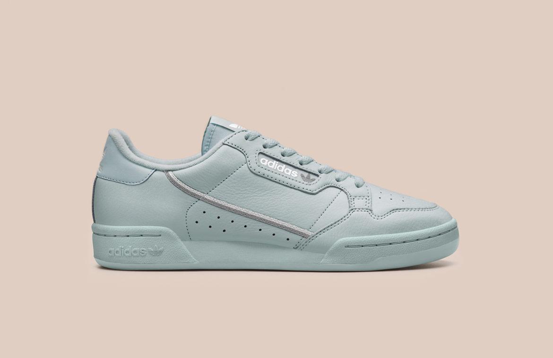 adidas Originals Continental 80 — boty — tenisky — pánské, dámské — sneakers — modro-zelené, pastelové