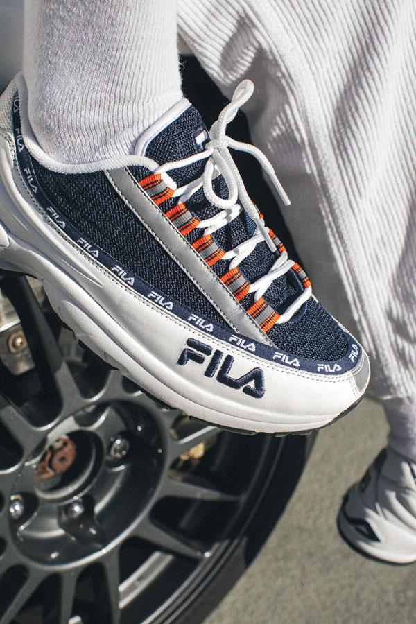 Fila DSTR97 — modro-bílé boty — dámské — pánské