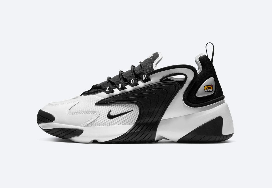 Nike Zoom 2K — pánské boty — černo-bílé — sneakers