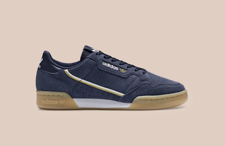 adidas Originals Continental 80 — boty — tenisky — pánské, dámské — sneakers — modré