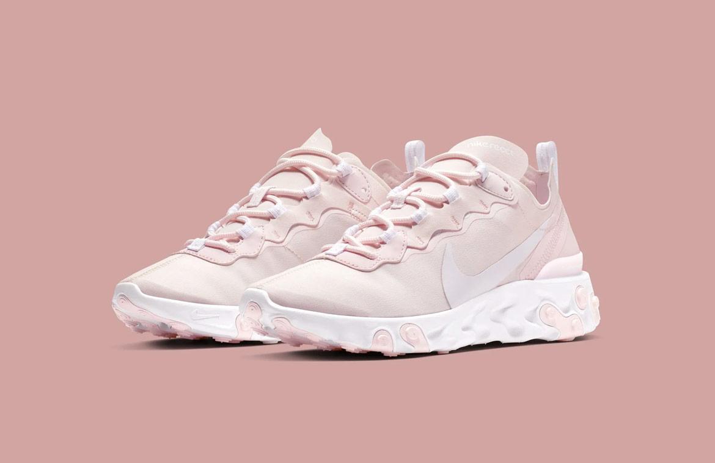 Nike React Element 55 — boty — dámské — sneakers — světle růžové