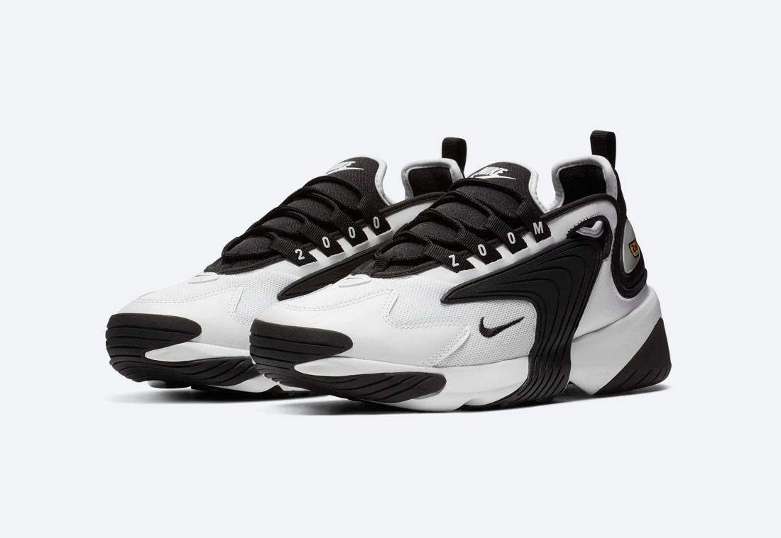 Nike Zoom 2K — dámské boty — černo-bílé — sneakers