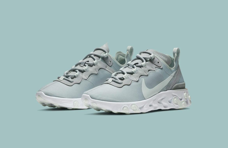 Nike React Element 55 — boty — dámské — sneakers — světle modré/zelené