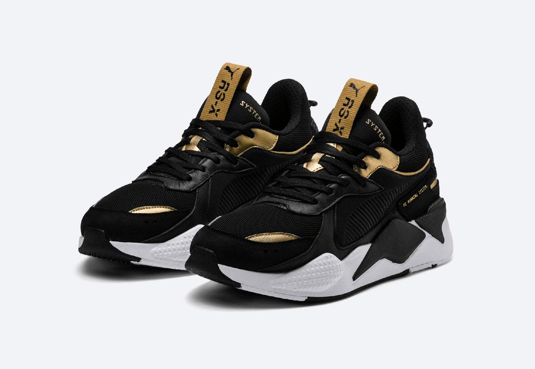 Puma RS-X Trophy — Black Gold — boty — černé se zlatými detaily — tenisky — sneakers