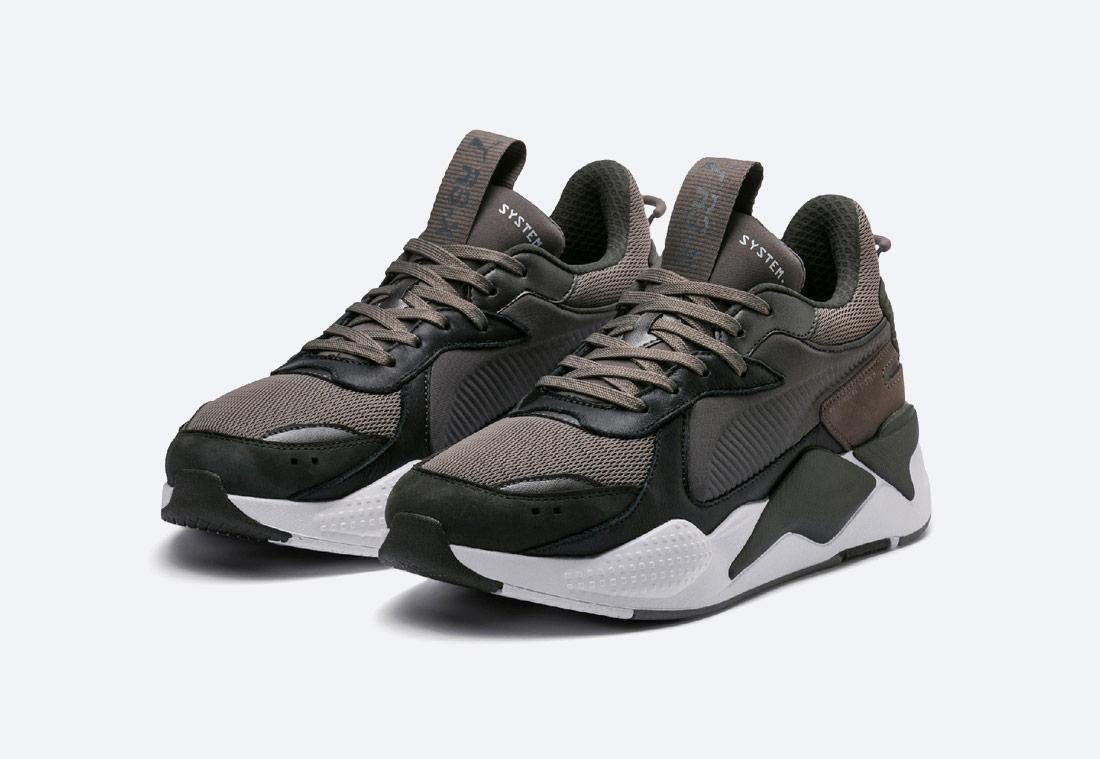 Puma RS-X Trophy — Steel-Grey Dark Shadow — boty — šedé — tenisky — sneakers