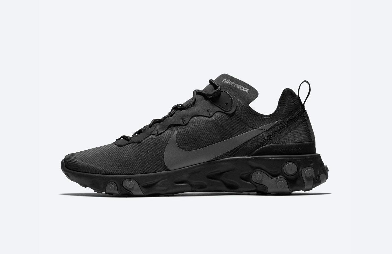 Nike React Element 55 — boty — pánské — sneakers — černé