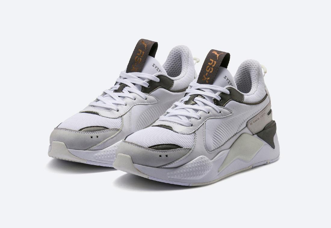 Puma RS-X Trophy — White-Bronze — boty — bílé s bronzovými detaily — tenisky — sneakers
