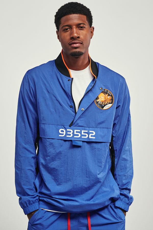 Nike PG3 — Paul George — šusťáková bunda 93552 přes hlavu — modrá