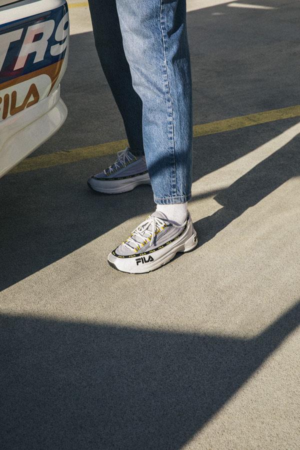Fila DSTR97 — sneakers — boty — šedo-bílé boty