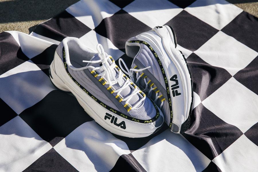 Fila DSTR97 — boty — sneakers — šedo-bílé boty