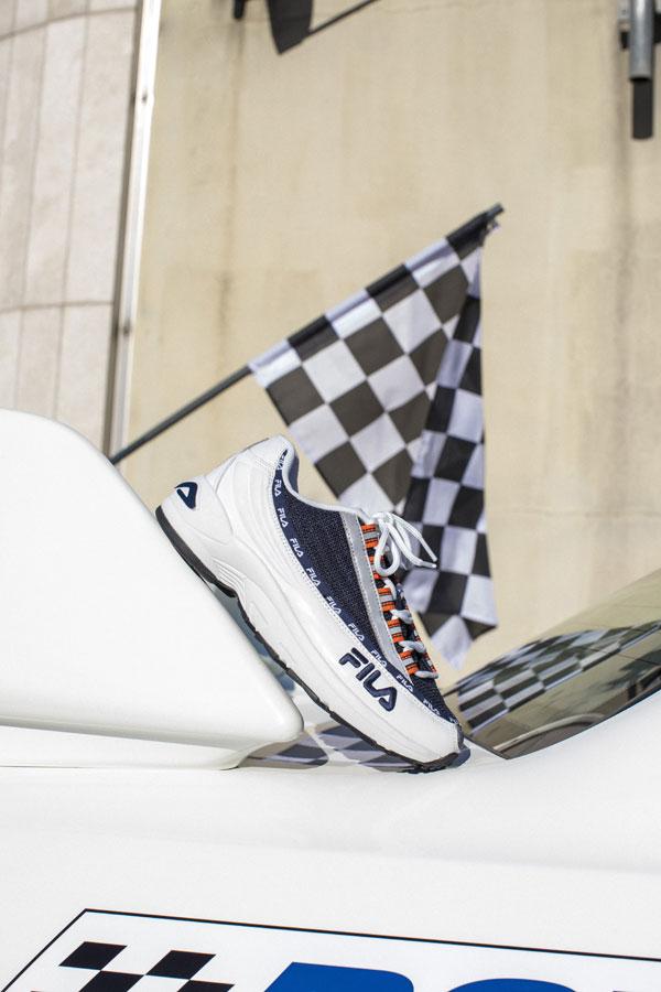 Fila DSTR97 — sneakers — boty — modro-bílé boty