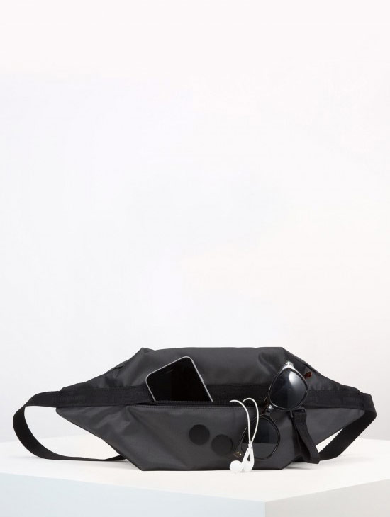 pinqponq Brik — Silk Silver — Changeant — černá ledvinka
