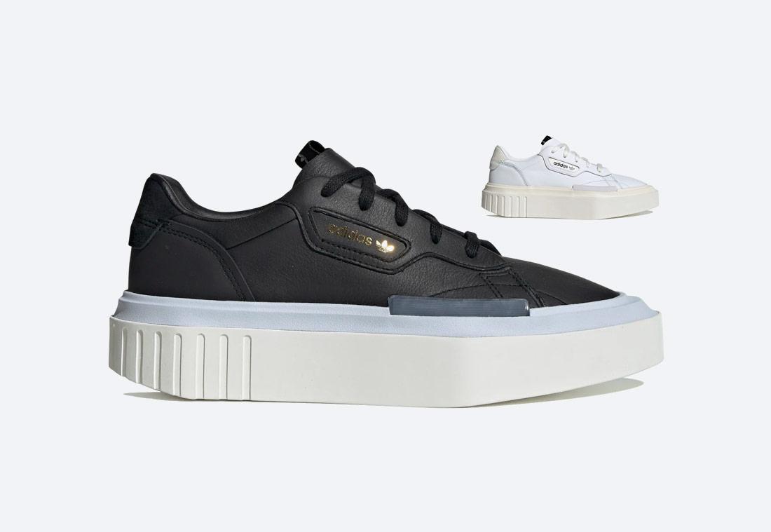 adidas Originals Hypersleek — dámské boty — futuristické tenisky na platformě — sneakers