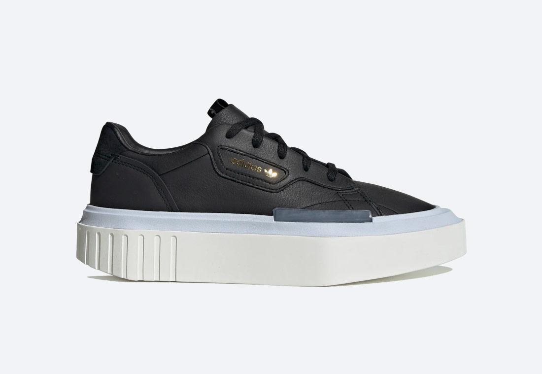 adidas Originals Hypersleek — dámské boty — futuristické tenisky na platformě — sneakers — černé