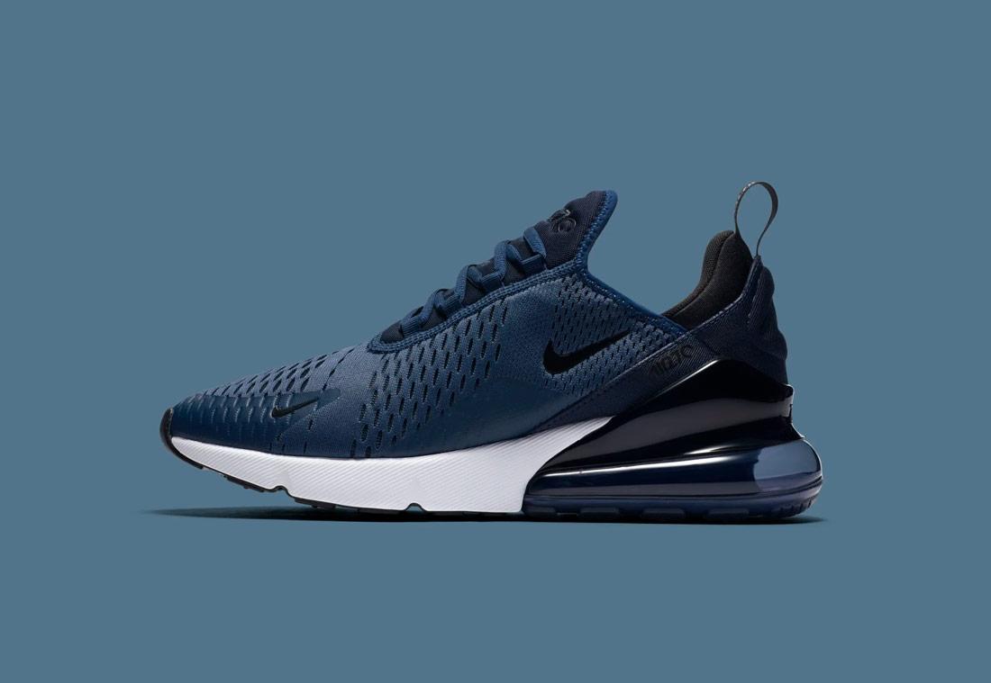 Nike Air Max 270 — tmavě modré — pánské — sneakers — tenisky