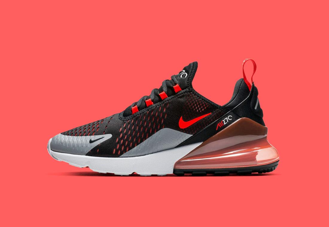 Nike Air Max 270 — červené, černé — pánské — sneakers — tenisky