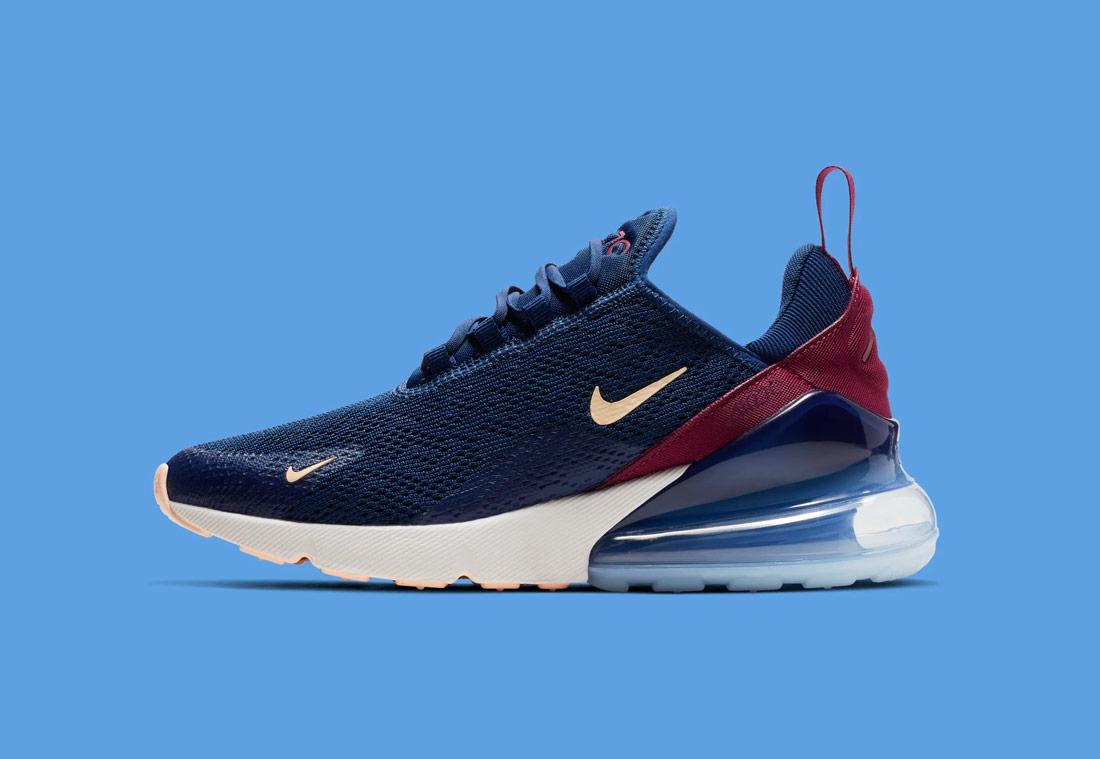 Nike Air Max 270 — modré — dámské — sneakers — tenisky — Airmaxy