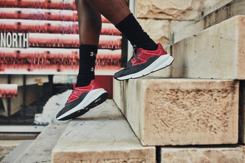 Under Armour Forge 96 — boty — červené, černé (pink/jet grey) — tenisky — sneakers