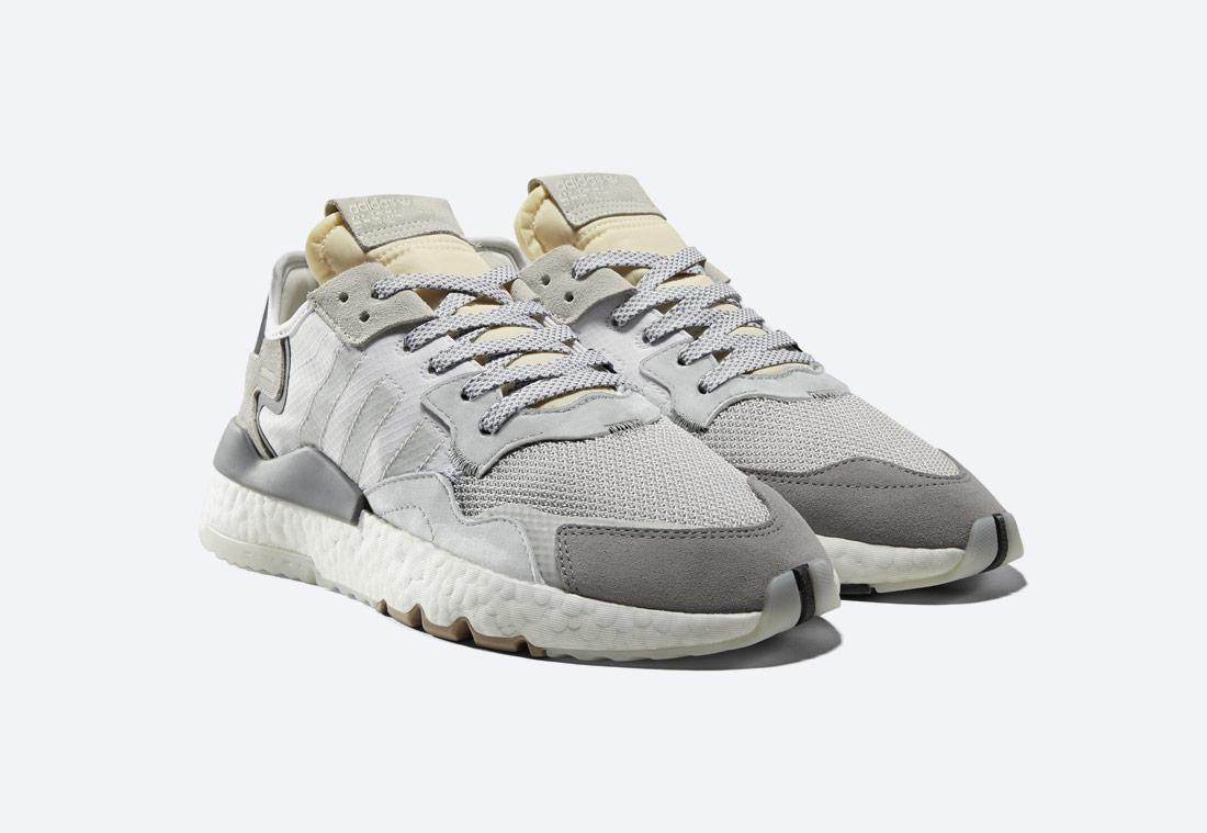 adidas Originals Nite Jogger — bílé — pánské — boty — tenisky — sneakers