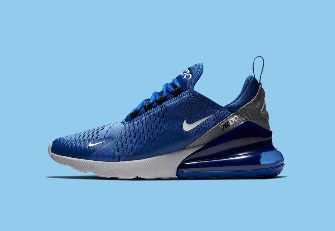 Nike Air Max 270 — modré — pánské — sneakers — tenisky