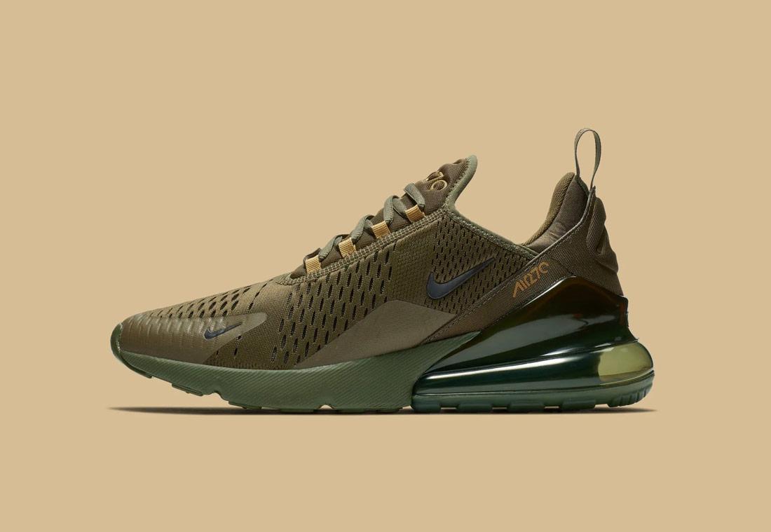 Nike Air Max 270 — zeleno-hnědé, army green — pánské — sneakers — tenisky