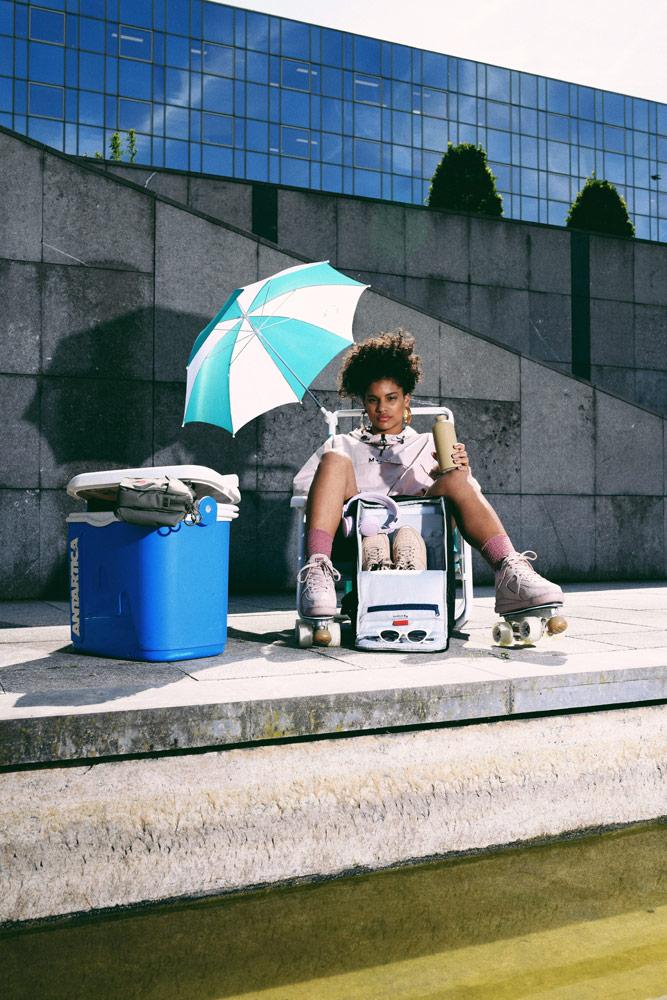 Pinqponq — batoh do města — recyklovaný z PET