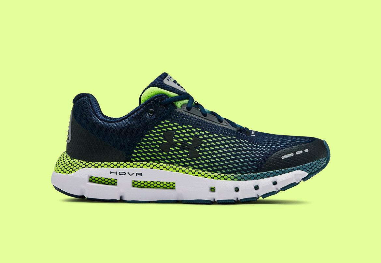 Under Armour HOVR Infinite — běžecké boty — tenisky — zelené/modré (Academy/Thunder) — pánské — running shoes