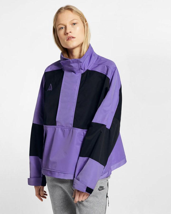 Nike ACG — jarní outdoorová bunda s kapucí — fialová — dámská — anorak — jaro 2019