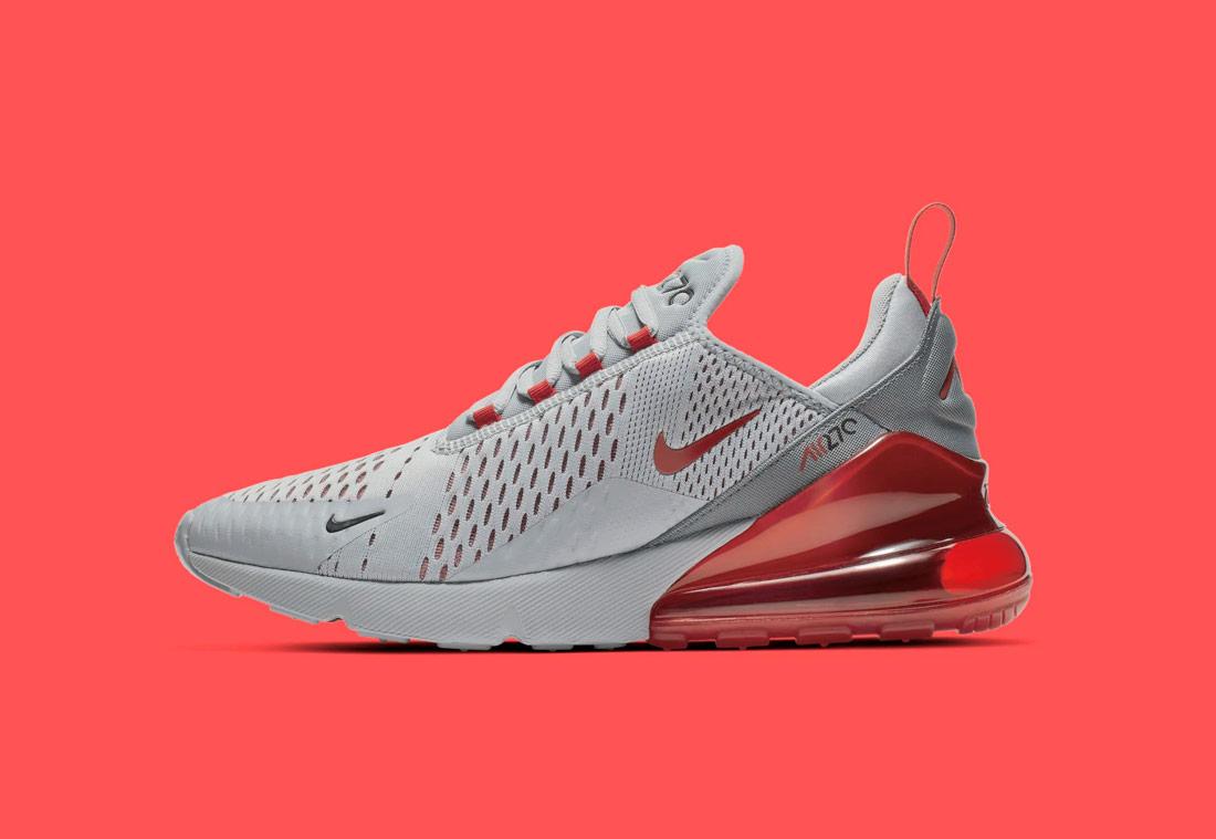 Nike Air Max 270 — červené, bílé — pánské — sneakers — tenisky