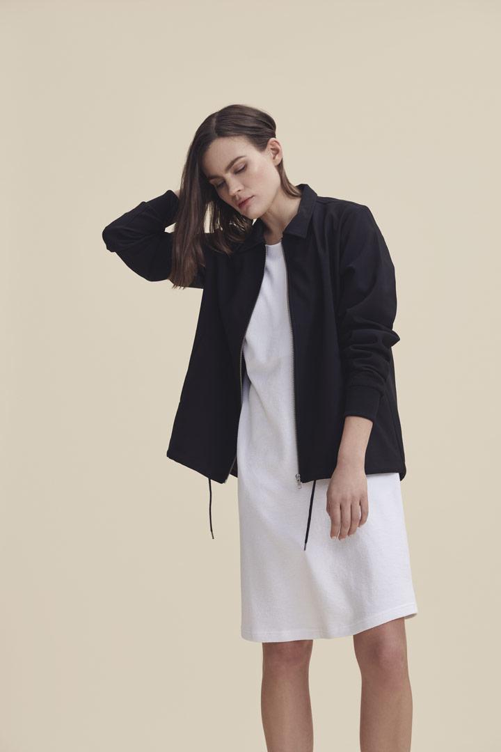 Makia — jarní bunda s límečkem — černá — dámská — jaro/léto 2019