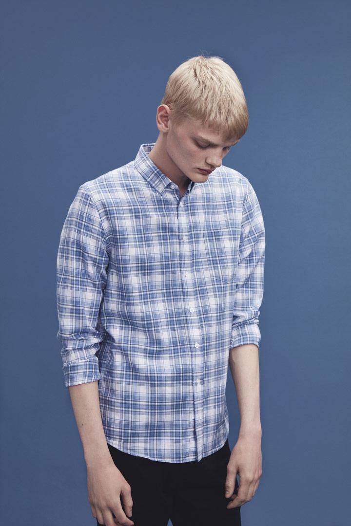 Makia — modrá kostkovaná košile — pánská — jaro/léto 2019