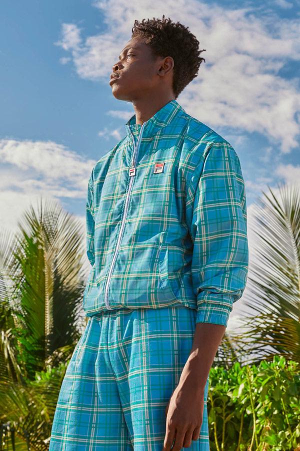 Fila — pánská kostkovaná bunda na zip — pánské šortky — jaro/léto 2019 — Heritage lookbook