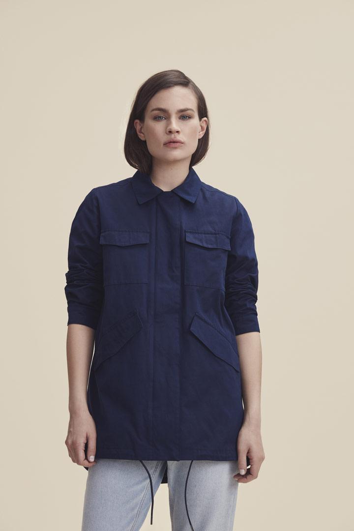Makia — jarní bunda s límečkem — modrá — dámská — jaro/léto 2019