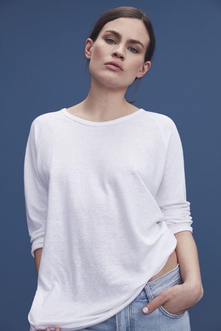 Makia — bílé tričko s dlouhými rukávy — dámské — jaro/léto 2019