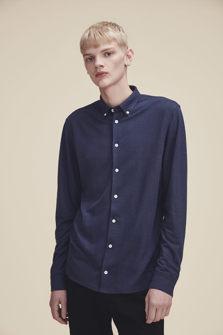 Makia — modrá košile s dlouhými rukávy — pánská — jaro/léto 2019