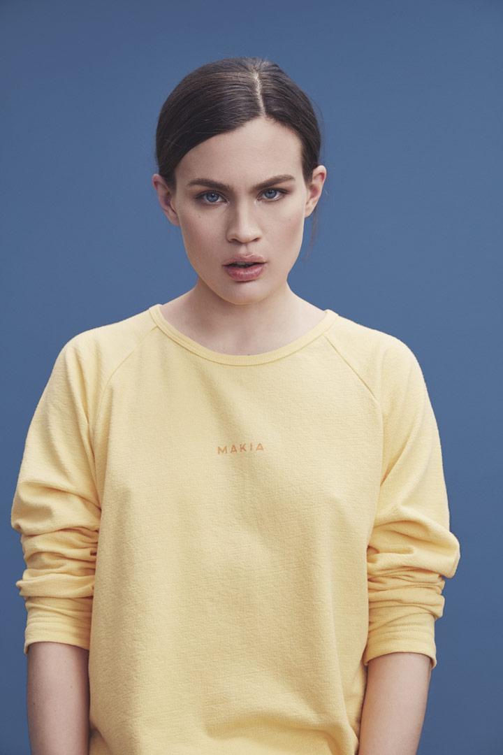 Makia — žluté tričko s dlouhými rukávy — dámské — jaro/léto 2019
