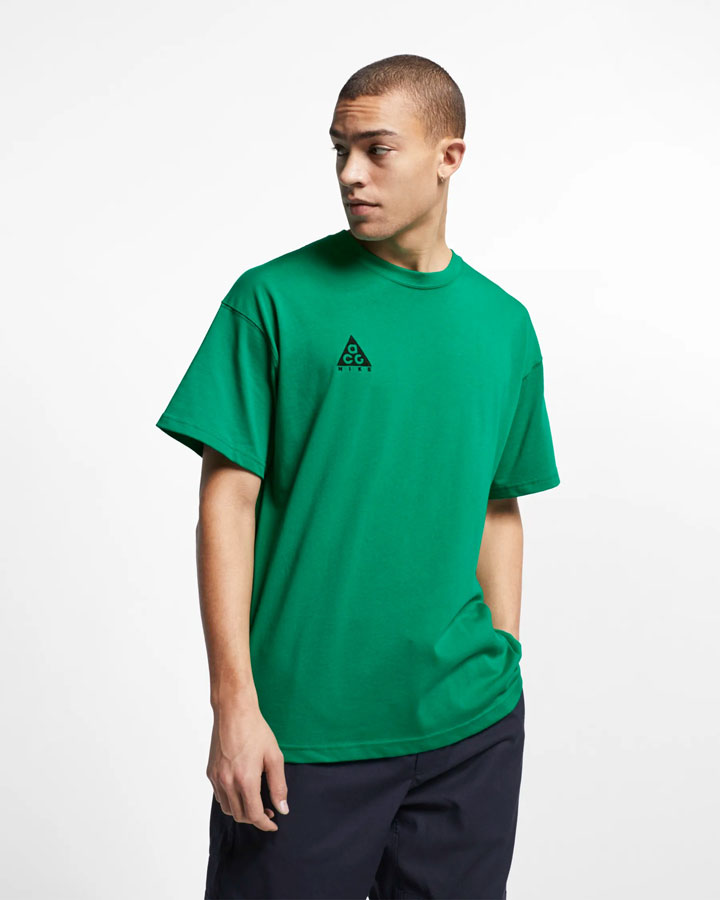 Nike ACG — pánské tričko — zelené — jaro 2019